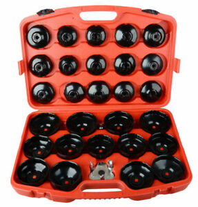 30pcs Cup Type Oil Filter Wrench Socket Removal Tool Kit Set