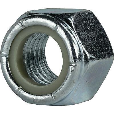 """1//4/""""-28 Nylon Insert Hex Lock Nuts Grade 2 Zinc Plated Steel Qty 500"""