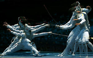 Details about Framed Print - Fencing/Sword Fighting (Picture Poster Olympic  Combat Sport Art)