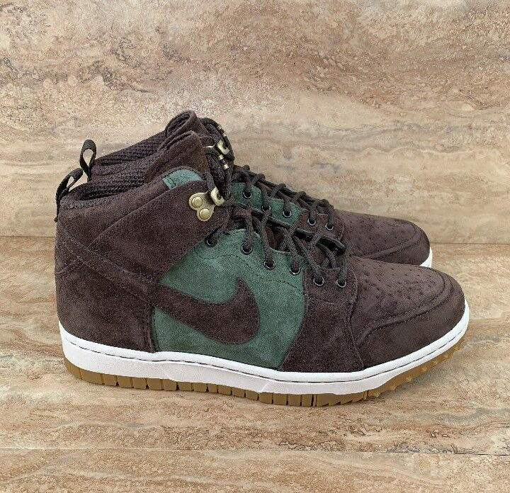 Nike Dunk CMFT Comfort Sneakerboot Dunk SB Men's shoes Brown Brown Brown Olive size 9.5 bc2240