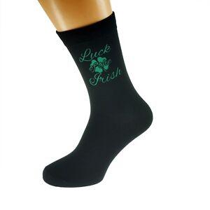 Suerte de los calcetines de diseño Irlandés Irlanda Hombre Calzado Talla 5-12 X6N436