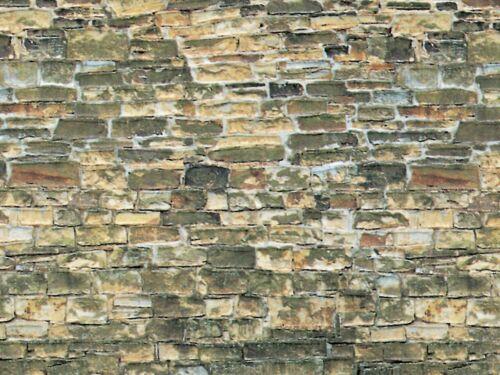 Vollmer H0 46043 (6043) Mauerplatte Naturstein braun aus Karton 250x125 mm Neu