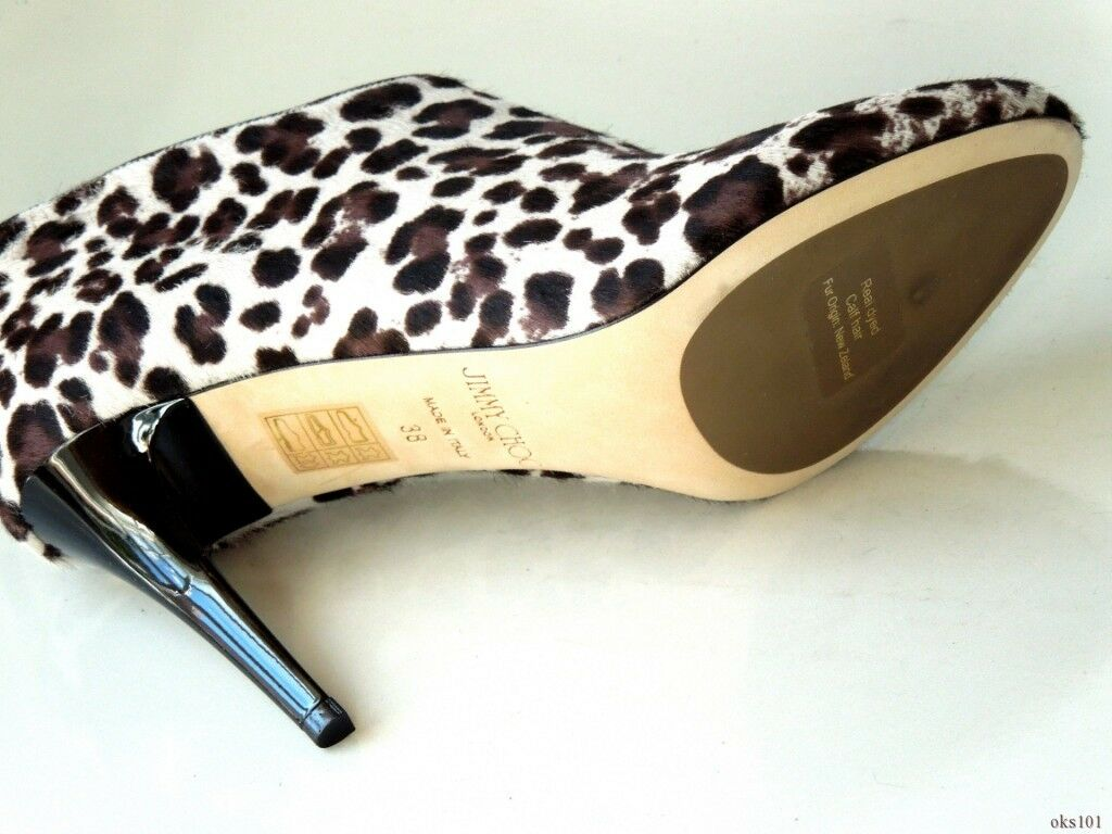 New  1195 JIMMY JIMMY JIMMY CHOO 'Mendez' animal-print pony hair ANKLE Stiefel 38 8 - sexy 6da67e
