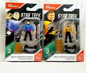 MEGA-CONSTRUX-HEROS-Capitaine-Kirk-et-Spock-chiffres-Star-Trek