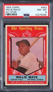 1959-Topps-Willie-Mays-All-Star-563-HOF-PSA-8-Centered