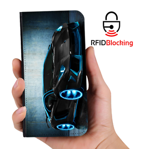 RFID-Protected-Car-Lamborghini-PU-Leather-Phone-Wallet-Case-Cover-Samsung-Galaxy