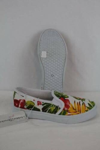 Girls Tennis Shoes Size 2 Floral Flats Casual Sneakers Slip On Canvas Loafers