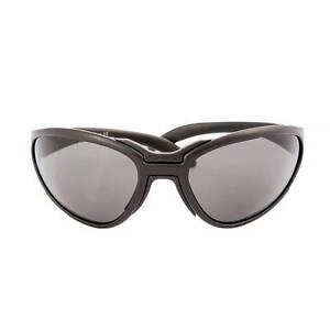 Nordica-Occhiale-da-sole-sportivo-nero-con-lente-grigia-100-Made-in-Italy