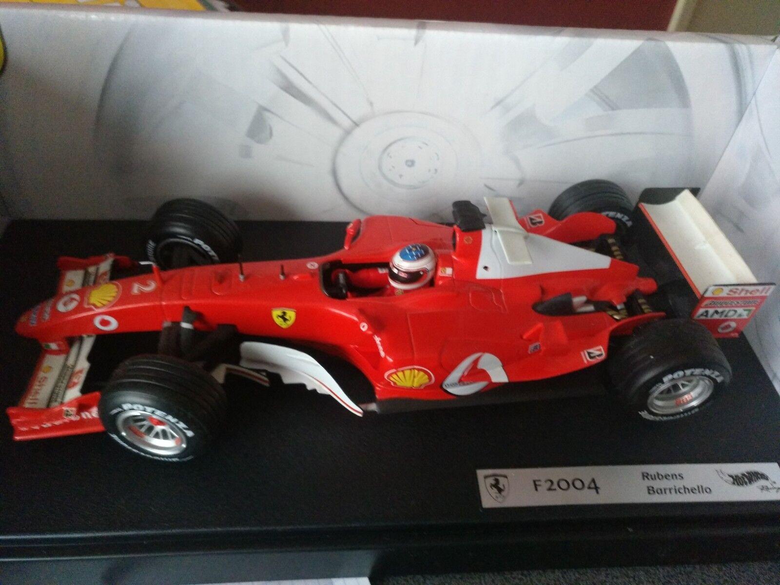 Ferrari Hotwheels Rubens Barichello 1 18 F2004 2004 in box