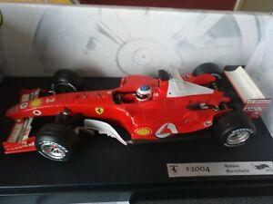 Ferrari Hotwheels Rubens Barichello 1/18 F2004 2004 dans la boîte