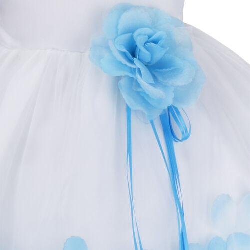 Kids Baby Flower Girl Dress Princess Party Wedding Bridesmaid Petals Tutu Dress