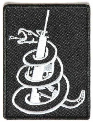 Snake Wrapped around Machine Gun Patch By Ivamis Trading 2.25x3 inch P4090