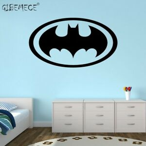 Details About Batman Logo Wall Stickers For Bedroom Vinyl Baby Boy Nursery Decal Kids