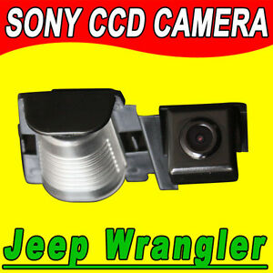 Sony CCD Jeep Wrangler car reverse rear view camera backup parking vehicle cam