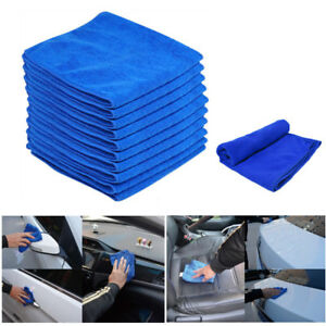10PCS LARGE MICROFIBRE CLEANING AUTO CAR DETAILING SOFT CLOTHS WASH TOWEL DUSTER