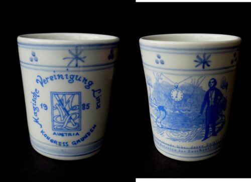 Magic China Cup Porzellan Becher Magie MAGISCHE VEREINIGUNG LINZ 1985