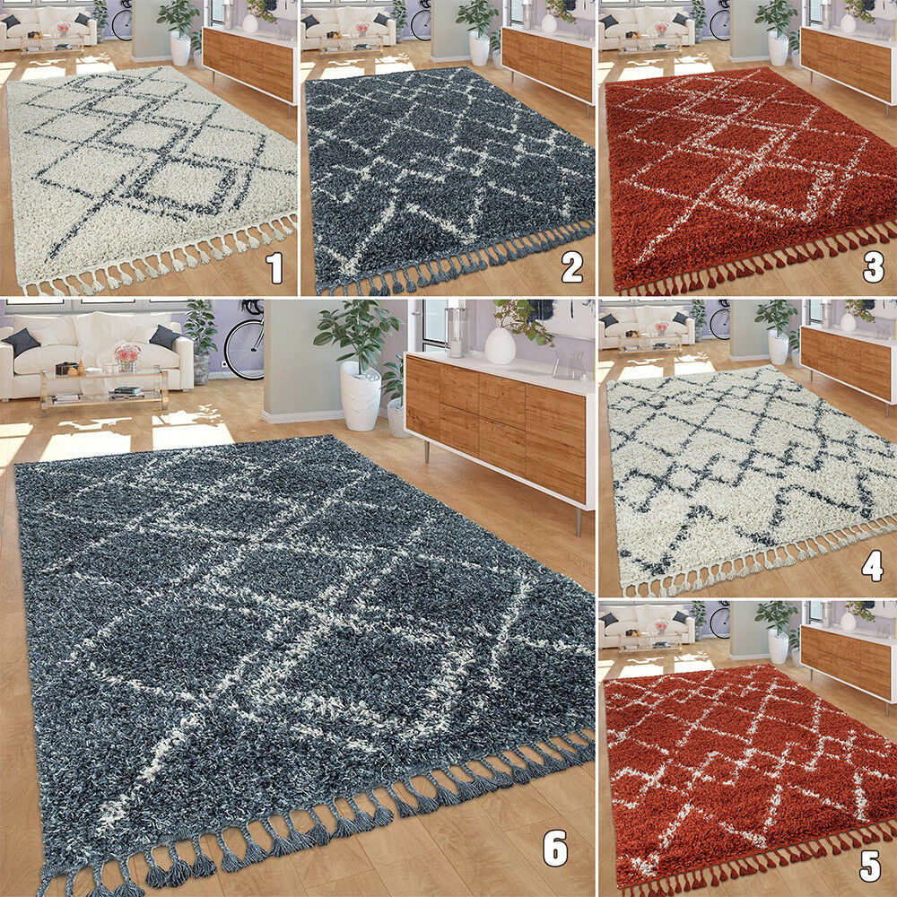 Tappeto Shaggy Soffice Profondo Pile Pattern geometrico tappeto piccolo X Large camera da letto Mats