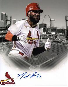 St Louis Cardinals Marcell Ozuna Signed 11x14 Photo COA