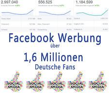 Facebook Werbung für Webseiten & Unternehmen / 5 Tage / über 1,6 M Mitglieder