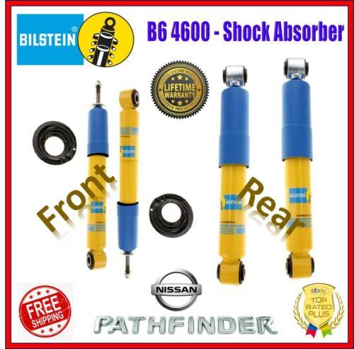 Rear For 05-12 Nissan Pathfinder 4WD Bilstein B6 4600 Shock Absorber Set Front