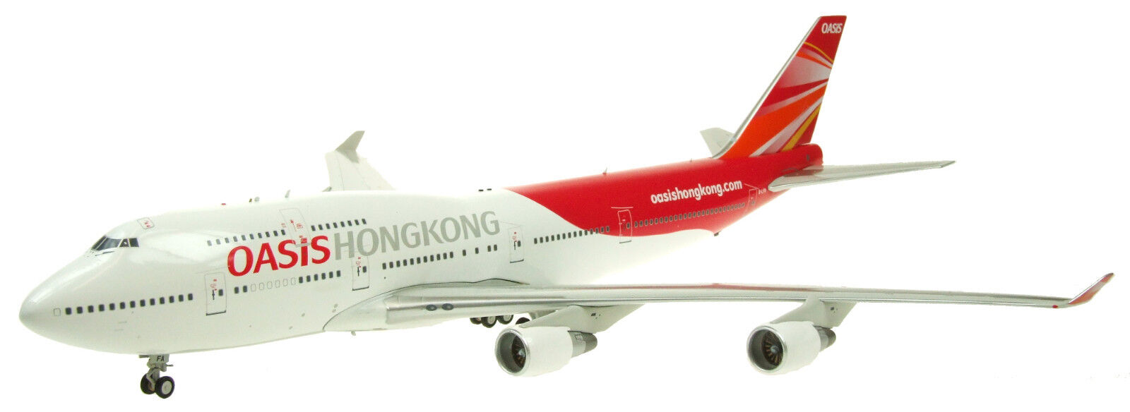 JFOX JF7474023 1 200 747-412 OASIS HONG KONG AIRLINES PW ENGINE VERSION W STAND