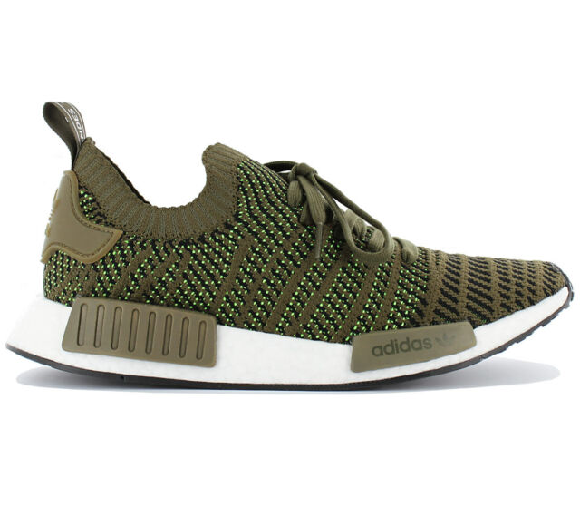 casual shoes most popular quality products Adidas Nmd R1 Stlt Pk Primeknit Men's Boost Sneaker Shoes Olive Green  CQ2389 New