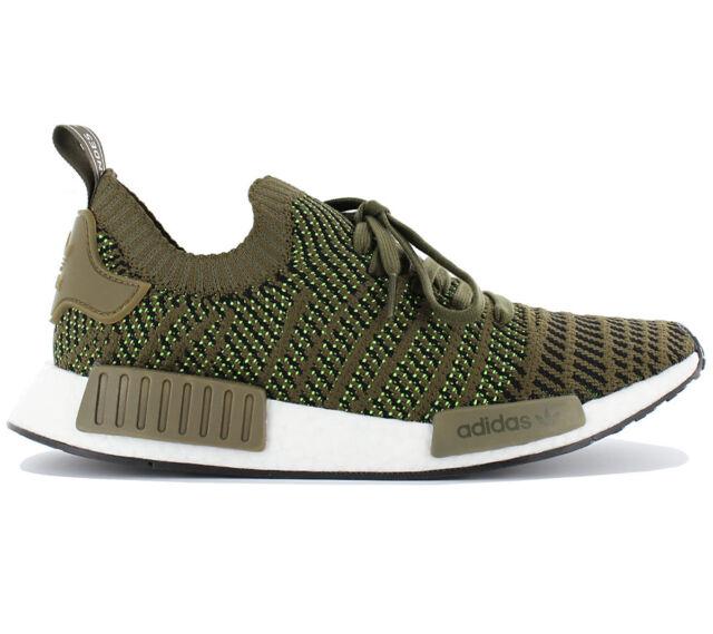 cute cheap best cheap website for discount Adidas Nmd R1 Stlt Pk Primeknit Men's Boost Sneaker Shoes Olive Green  CQ2389 New