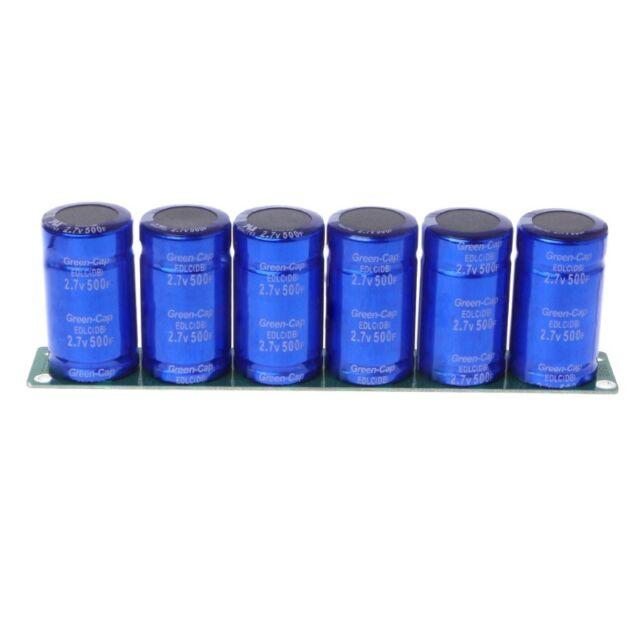 6 Pcs/1 Set Farad Capacitor 2.7V 500F Super Capacitance With Protection Board