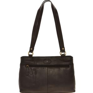 ROWALLAN-Shoulder-Bag-Soft-Black-Leather-Handcrafted-Natural-Grain-RRP-70-GIFT
