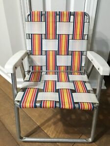 Vintage Child S Folding Yard Lawn Outdoor Chair Nylon