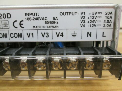 12V MEAN WELL ADJUSTABLE POWER SUPPLY 5V 24V P//N QP-320D ~NEW~