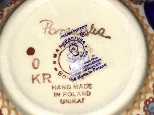 Polish Pottery 16 oz. Bubble Mug! UNIKAT Signature Rembrandt Pattern!