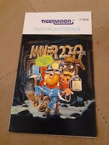 MINER 2049er by TIGERVISION for Atari 2600 ▪︎ MANUAL ONLY ▪︎