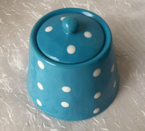 Retro Blue Polka Dot Sugar Bowl New Maxwell /& Williams  #993