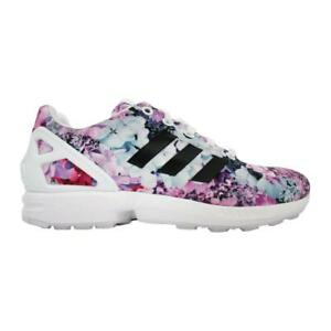 51ab8269 Juniors ADIDAS ZX FLUX J Floral White Synthetic Trainers BB4201 | eBay