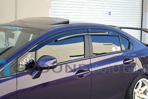 🚀MUGEN WINDOW VISORS FITS 2012 2013 2014 2015 HONDA CIVIC 4DR