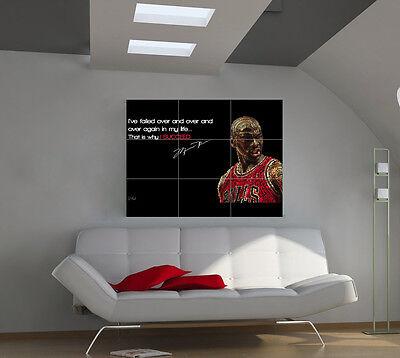 "Michael Jordan Huge Art Giant Poster Wall Print 39""x57"" apx43"