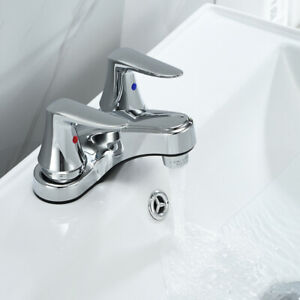 4-034-Chrome-Bathroom-Basin-Sink-Faucet-Lavatory-3-Holes-2-Handles-Vanity-Mixer-Tap