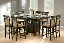 Orren Ellis Annapolis 9 Piece Counter Height Dining Set For Sale Online Ebay