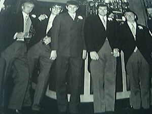 bw photograph 55 x 35 inches wedding groom best man ushers 1960s - Leicester, United Kingdom - bw photograph 55 x 35 inches wedding groom best man ushers 1960s - Leicester, United Kingdom