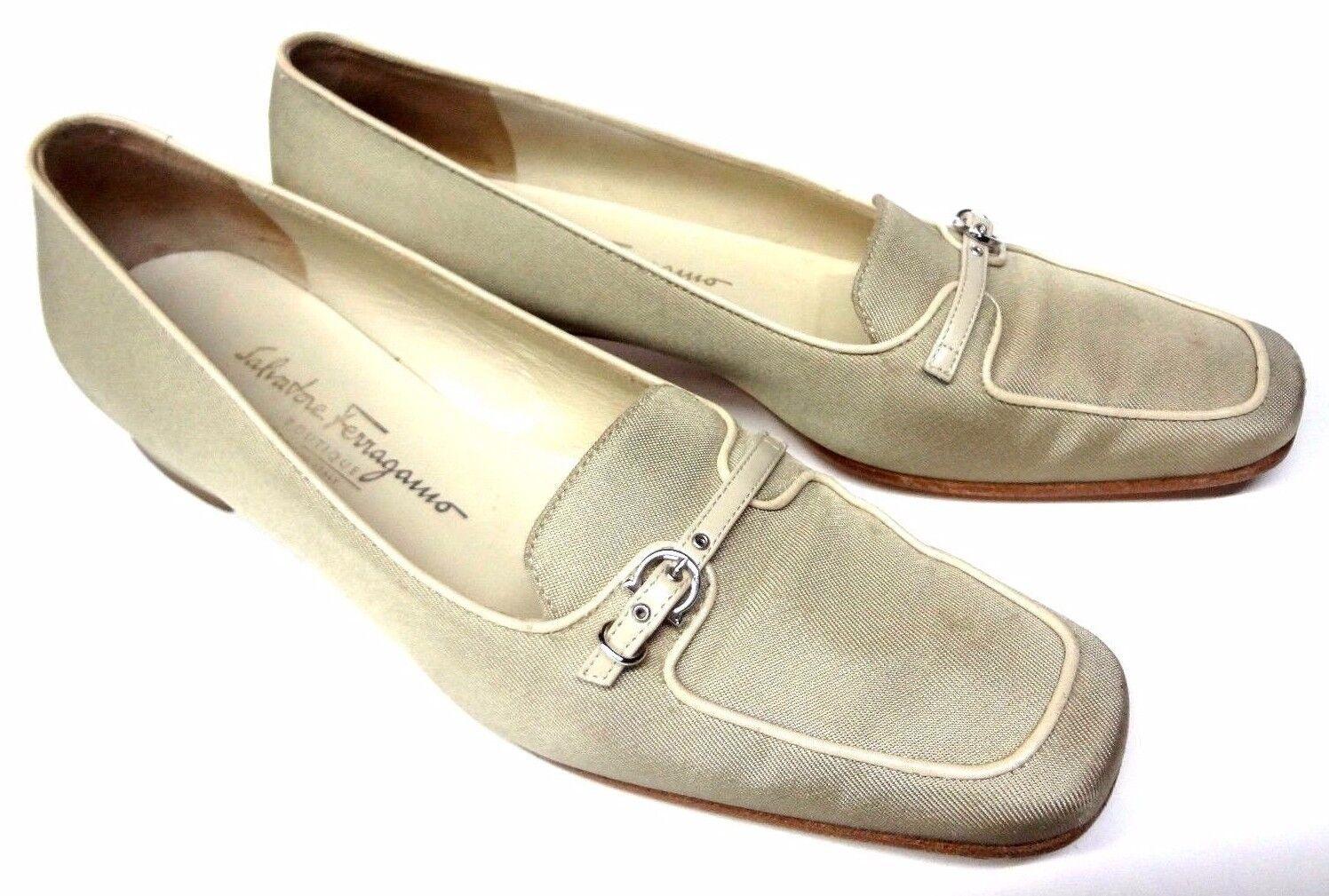 SALVATORE FERRAGAMO LOAFERS MOCCASIN Schuhe SIZE 7.5 2A