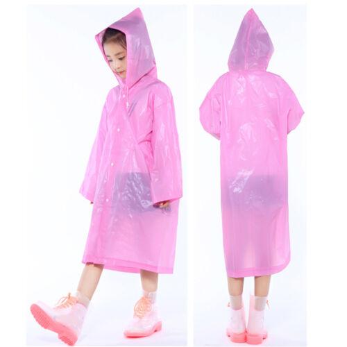1//2PC Baby Reusable Rainwear Waterproof Raincoat Child Rain Ponchos Cover XIU