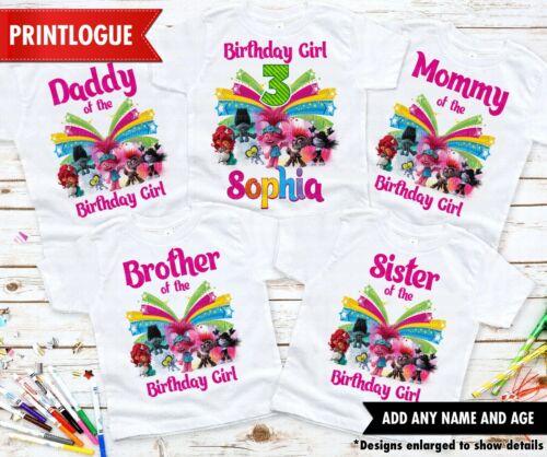 Birthday Family Shirts Disney Trolls World Tour T-shirt Trolls Birthday Shirt