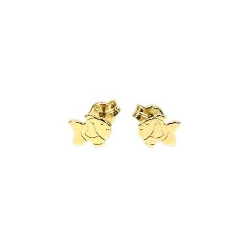 PAAR 375 Echt Gold Fisch Kinder Ohrstecker Ohrringe 5578