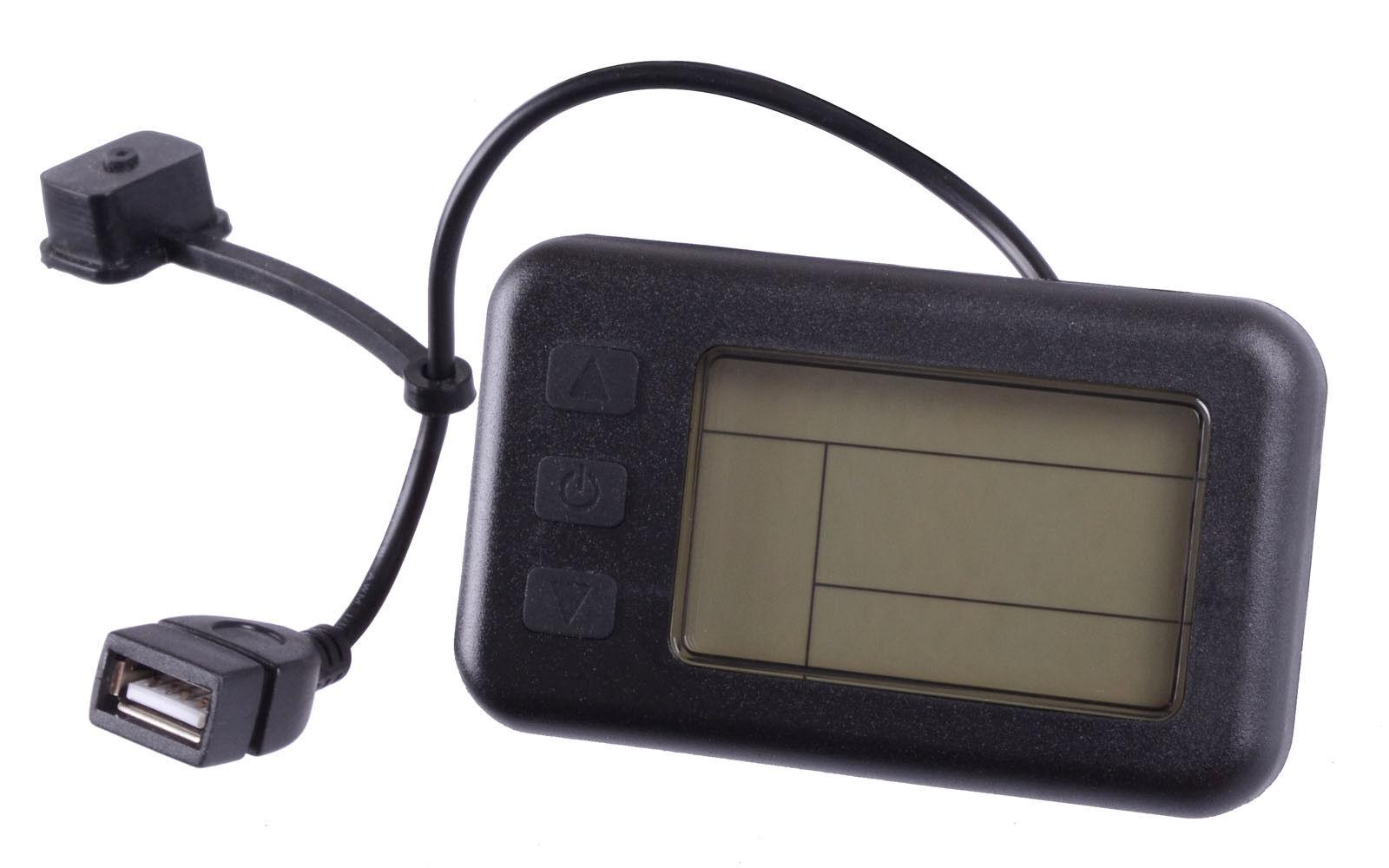 KT-LCD1 Display 24V   36V mit USB Ladebuchse für Pedelec, Elektrofahrrad, E-Bike