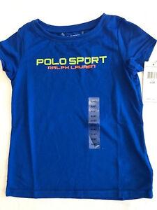 New Ralph Lauren Performance Jersey Pacific Royal Blue t-shirt top baby boy 4/4T
