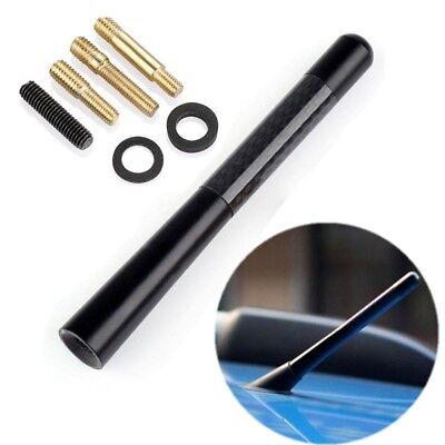 Screws 4.7inches Universal Car Antenna Carbon Fiber Radio FM Antena Black Kit