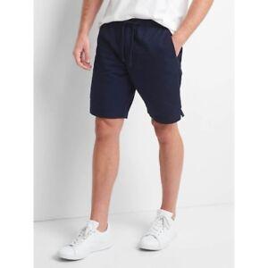 Gap-men-039-s-Lived-in-drawstring-shorts-9-034-Tapestry-Navy-size-Medium-86cm-34in-NWT