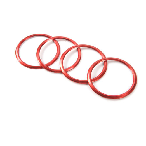 4PCS Red Interior Air Vent Outlet Ring Cover Trim for Chevrolet Camaro 2016-2017