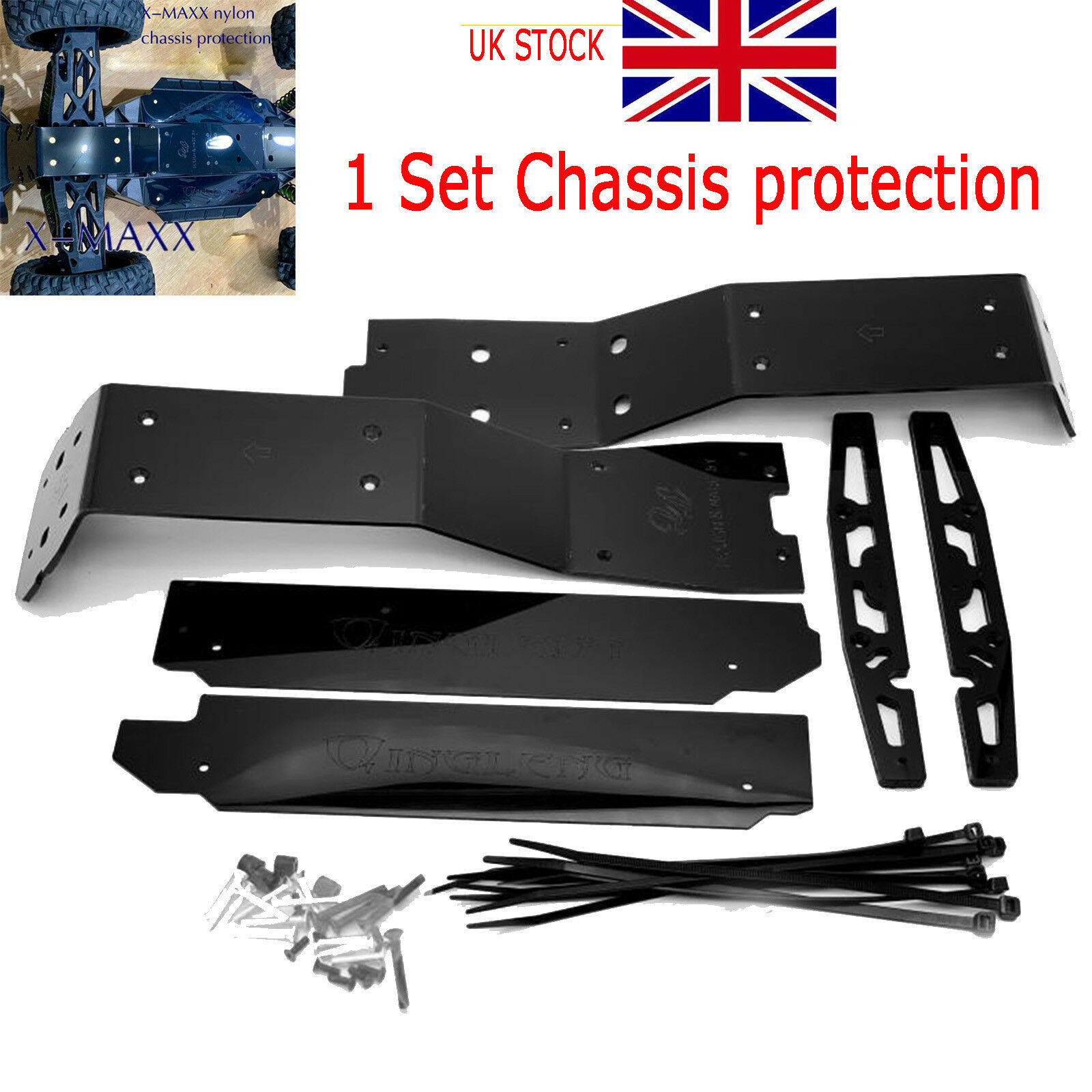 Wear-resisting Nylon Chassis Predection Skid Plate for TRAXXAS X-MAXX XMAXX